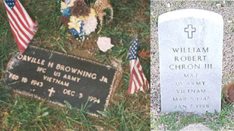 Headstone Markers of Butch Browning and Bill Chron
